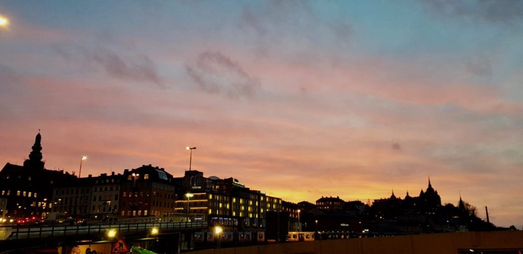 Stockholm evening sky by Ingemar Pongratz