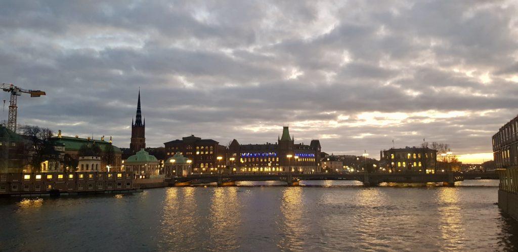 Stockholm sunset by Ingemar Pongratz